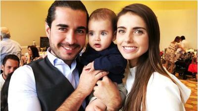 Michelle Renaud y su esposo celebran bautizo de Marcelo