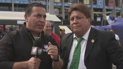 Llegó 'Miguel Herrera' al Estadio Azteca y le envió un mensaje a Chivas