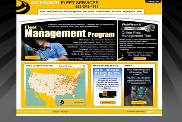 4. Dickinson Fleet Services  Sector de la industria: Transporte.  Ejempl...