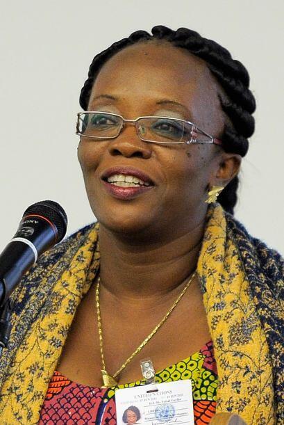 Vabah Kazaku Gayflor, Ministra de Género y Desarrollo de Liberia también...
