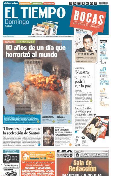 Cortesía de El Tiempo de Bogotá, Colombia, vía Newseum.