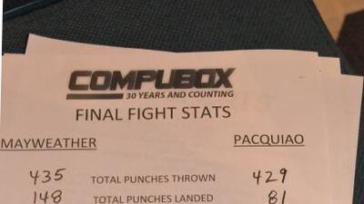 Mayweather Jr. tiró y conectó más golpes que Pacquiao.