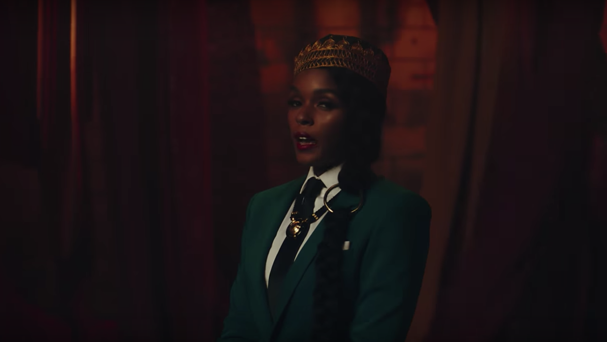 Singer Janelle Monáe appears in the music video for 'Django Jane.'