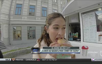 ¿Cuánto dinero se necesita para comer en Kazán?
