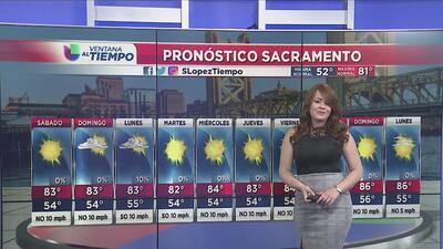 Temperaturas cálidas para el fin de semana en Sacramento