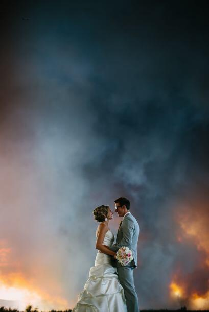 La pareja quedó asombrada de bien que quedaron las fotografías, además d...