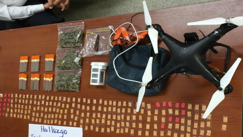 El vehículo aéreo no tripulado encontrado en la prisión
