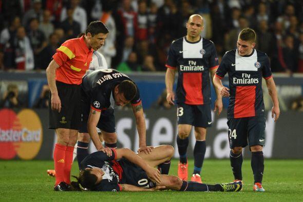Y las lesiones también se vieron en este partido, lesiones de figuras de...