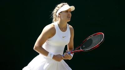 Eugenie Bouchard cayó en Wimbledon y vuelven a colocarle el cartel de 'bella sin talento'