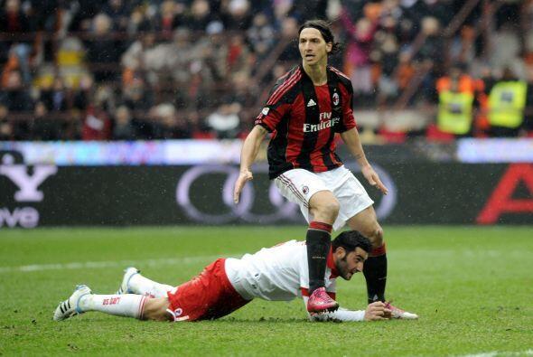 El gesto del sueco Zlatan Ibrahimovic era la prueba clave que los recien...