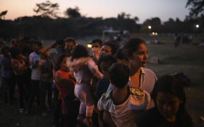 Central American migrants, many of them women and children, were part of...