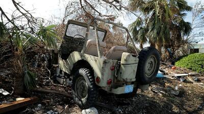 Fotos de algunos de los miles de autos destruidos por el paso del huracán Irma
