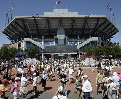La casa de US Open...El estadio Arthur Ashe, cuyo nombre es un homenaje...