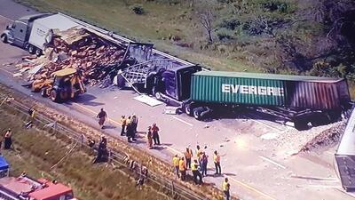Grave choque en la I-80 cerca de Ottawa, Illinois