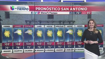 Persistirá el calor para este viernes en San Antonio