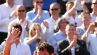 El suizo Roger Federer no pudo ante el ritmo del local Tsonga en cuartos...