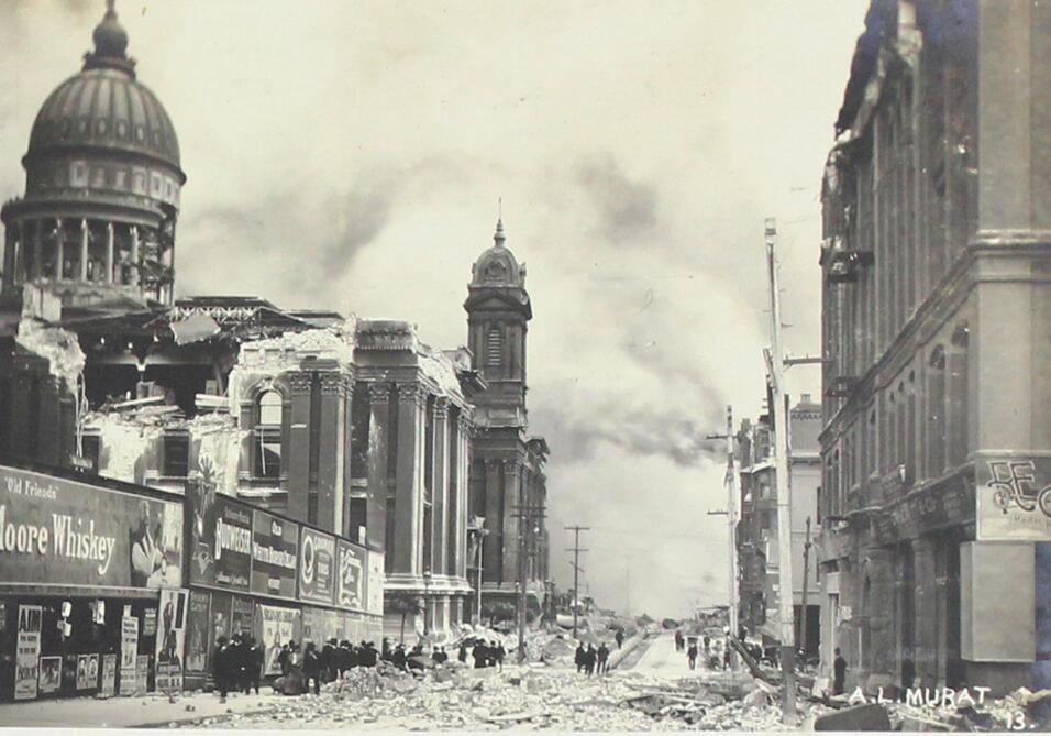 Imágenes del terremoto y el incendio que destruyeron la ciudad de San Fr...