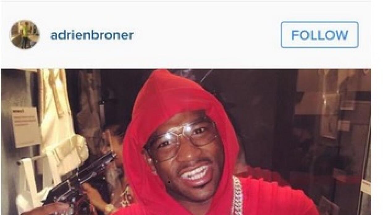 Borner posó con armas (Instagram Broner)