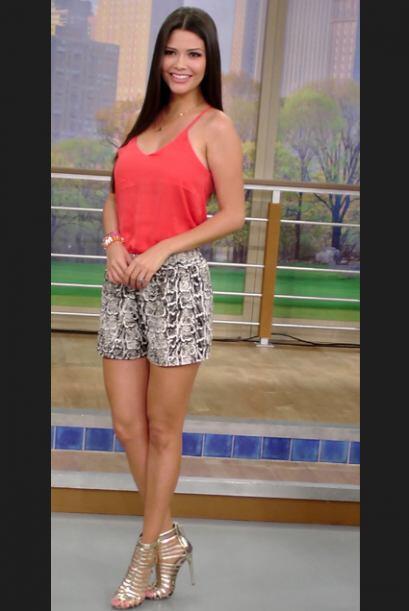 Abril 17, 2014: Un short estampado que combina perfecto con una linda y...