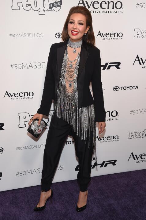 Thalía, a quien la diseñadora ha llamado su 'musa', escogió un t...