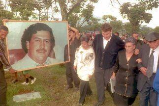 Funeral del narcotraficante Pablo Escobar.