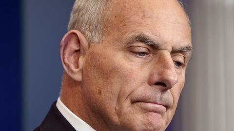 El jefe de gabinete de la Casa Blanca, John Kelly.