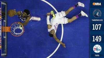 ¡Demoledores! Los 76ers aplastan a los Timberwolves con su mayor puntaje desde 1990