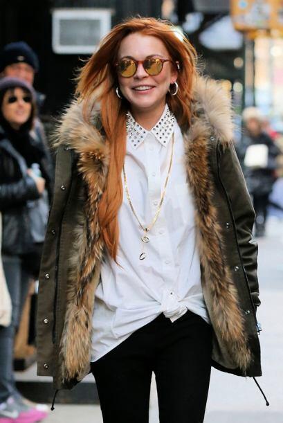 Sólo basta ver esa sonrisa en el rostro de Lindsay.Mira aquí los videos...