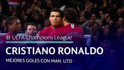 Los mejores goles de Cristiano Ronaldo con el Manchester United en Champions