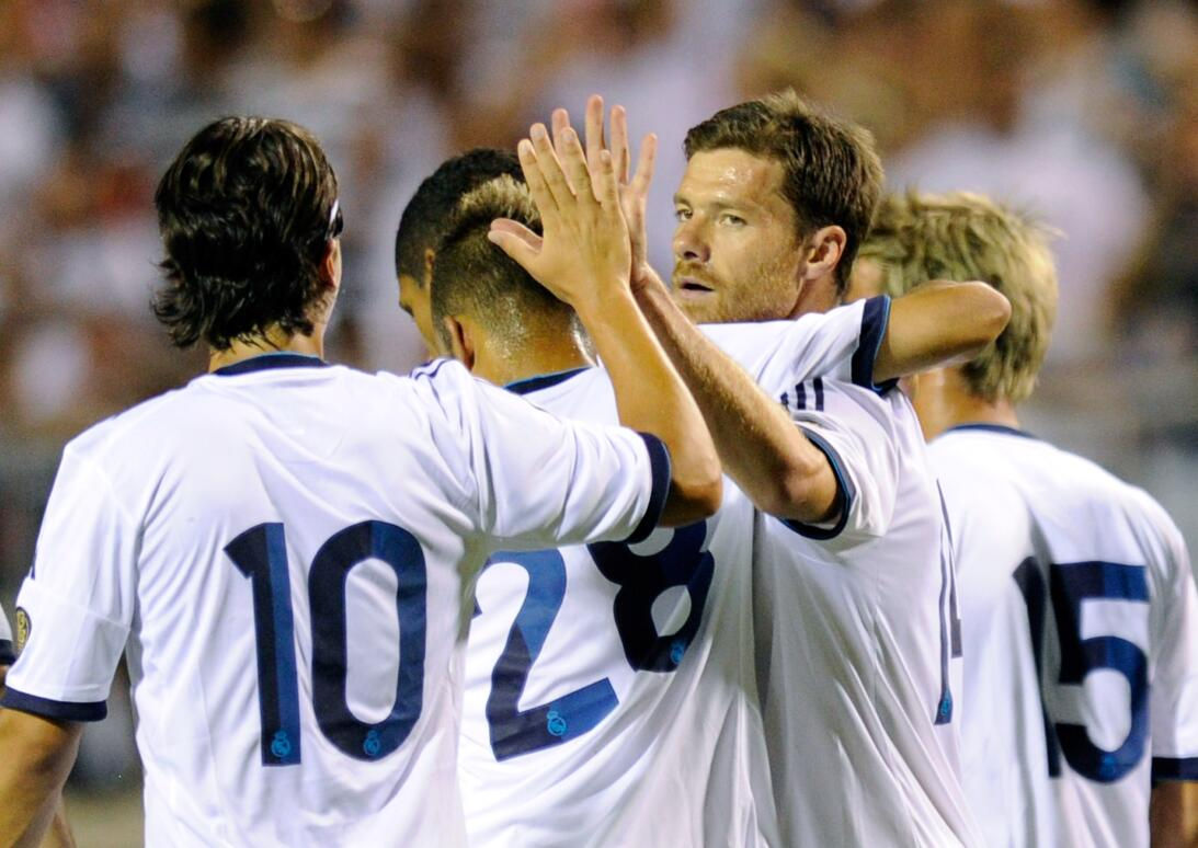 Real Madrid celebra un gol en 2012 ante Santos Laguna en Las Vegas
