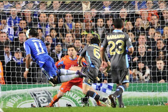 Y sólo dos minutos más tarde, también llegó el gol del Chelsea, gracias...
