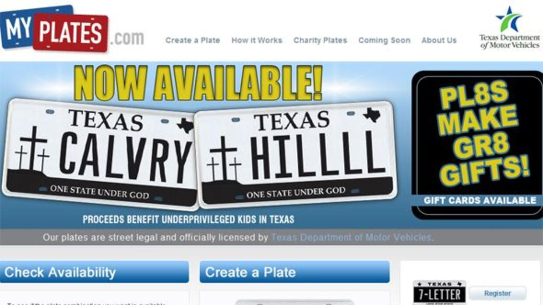 Los texanos podrán adquirir esta placa a un costo de$55 dólares y dicen...
