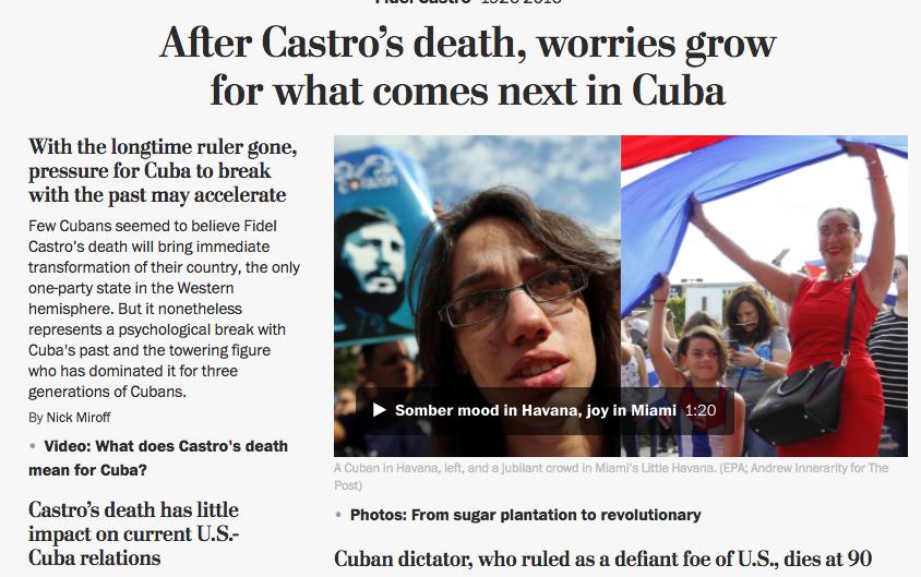 The Washington Post abre su portal web con un video que refleja el contr...