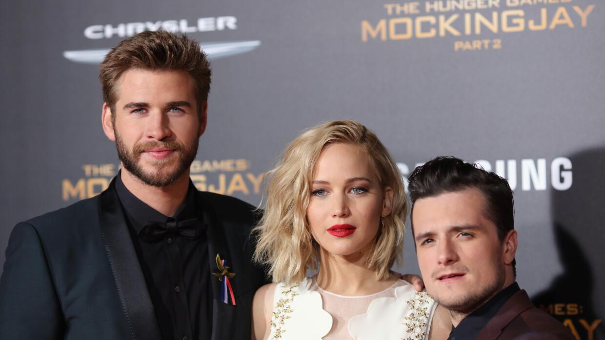Liam Hemsworth, Jennifer Lawrence y Josh Hutcherson