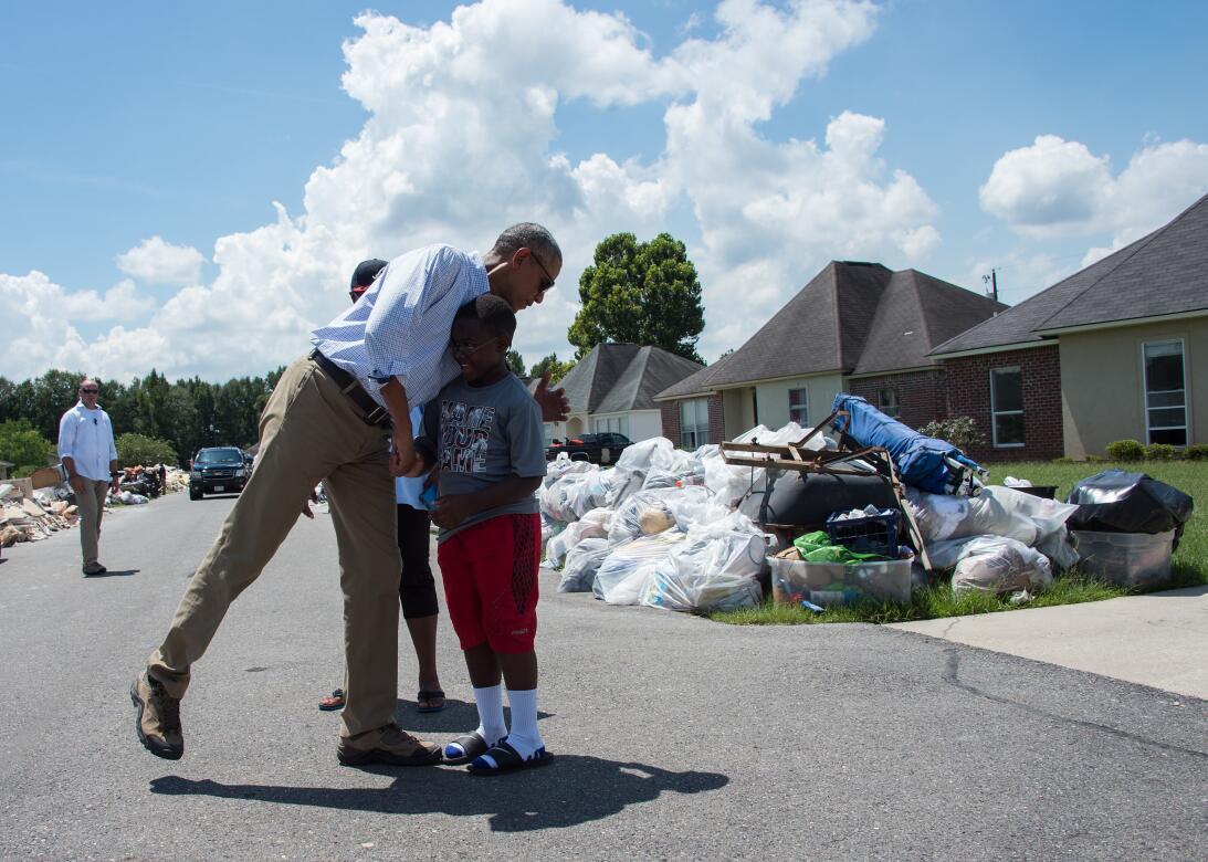 Obama en Louisiana