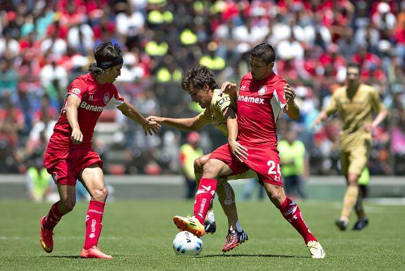 La media cancha de Toluca tuvo un cambio fundamental, pues en el primer...