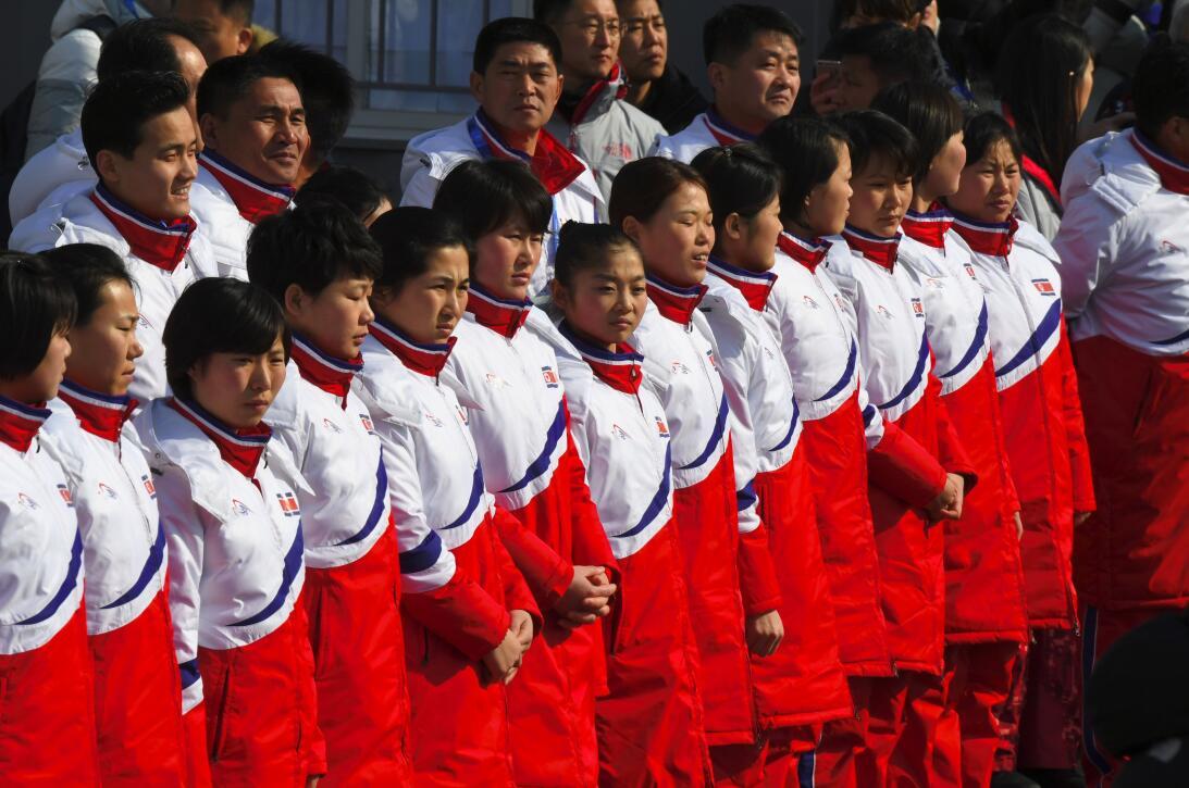 Llegada de Corea del Norte a Pyeongchang 2018 gettyimages-915603682.jpg