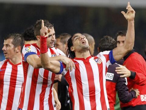 Con un gol en los últimos instantes del partido, Radamel Falcao l...