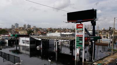 Una vista de San Juan tras el paso del huracán María, este viernes 22 de...
