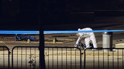 La escena del ataque terrorista en Nueva York.