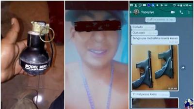 En el celular también fueron encontradas fotografías de armas que se ofr...