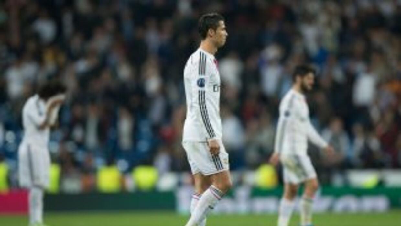 Cristiano Ronaldo salió molesto del partido contra Schalke 04.
