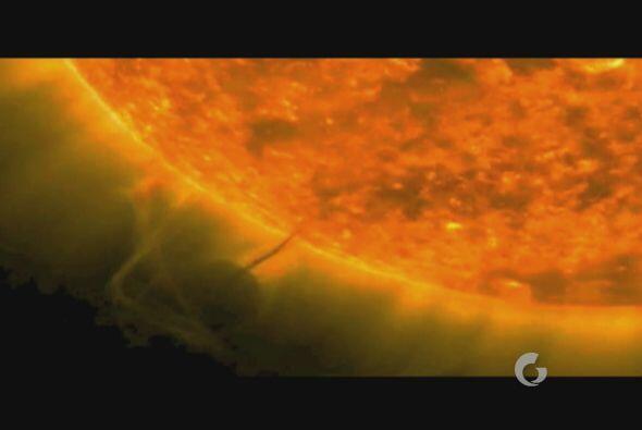 Incluso existen grabaciones del sol que han arrojado imágenes impresiona...