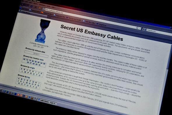 El sitio web WikiLeaks difundió cerca de 250,000 comunicaciones s...