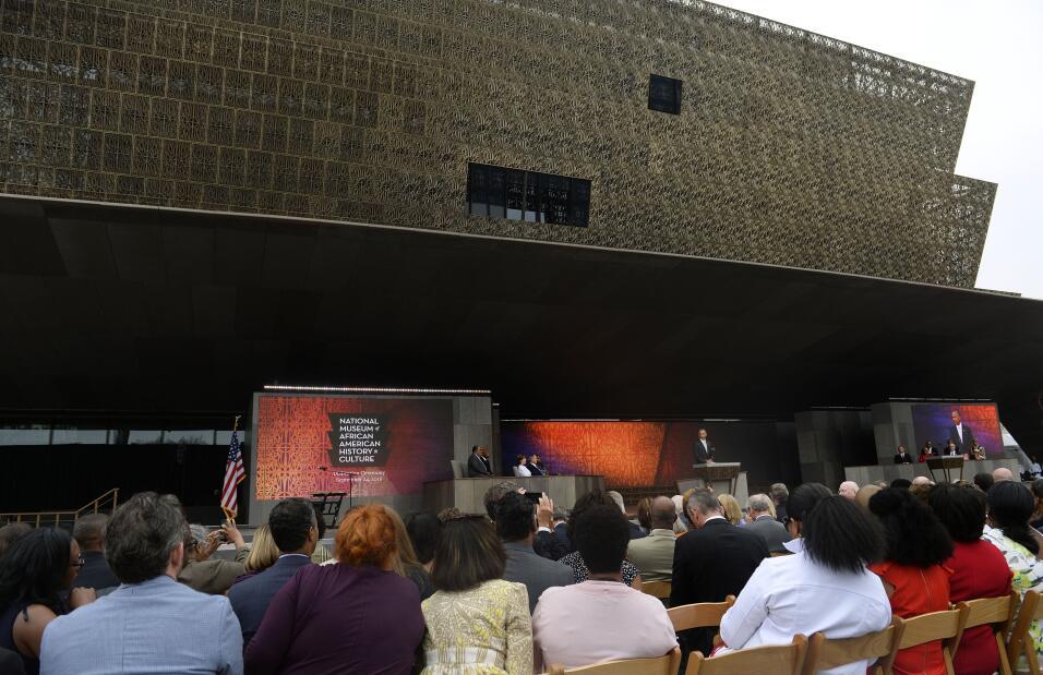 La audiencia atenta al discurso del presidente Obama.