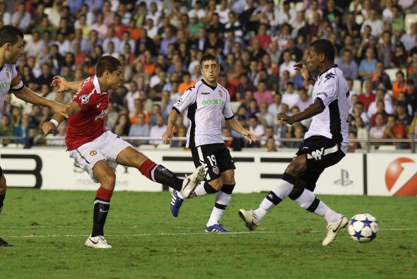 Frente al Valencia español, anotó su primer gol en la UEFA Champions Lea...