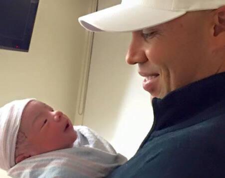 Carlos Beltrán y su hijo