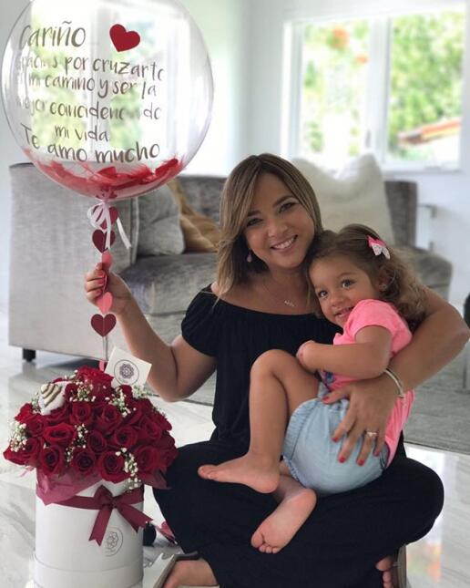 Adamari López y su hija