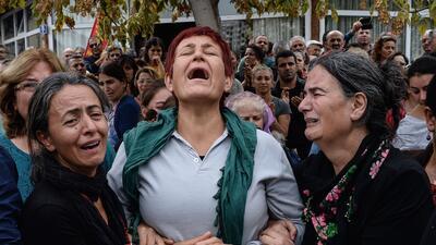 Expresiones de dolor en las calles de Turquía
