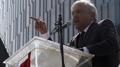 Andrés Manuel López Obrador, líder de Morena.
